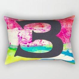 Number 3 Rectangular Pillow
