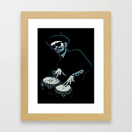 Bongo Beatin' Beatnik (Blue) Framed Art Print