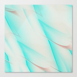 Pattern turquoise and white 1 Canvas Print