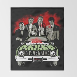 """""""Marvin"""" a.k.a A Pulp Tribute Over Coffee Throw Blanket"""
