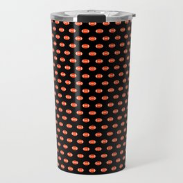 Florida fan university gators orange and blue college sports footballs pattern Travel Mug