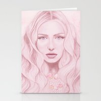 water colour Stationery Cards featuring Water Colour Girl by DeeDee Design