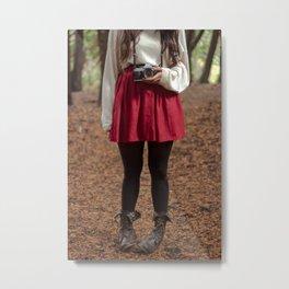 Camera Girl Metal Print