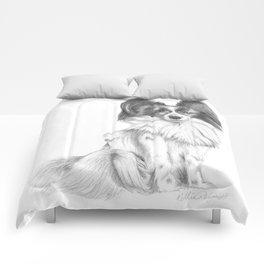 Papillion (Butterfly Dog) Comforters