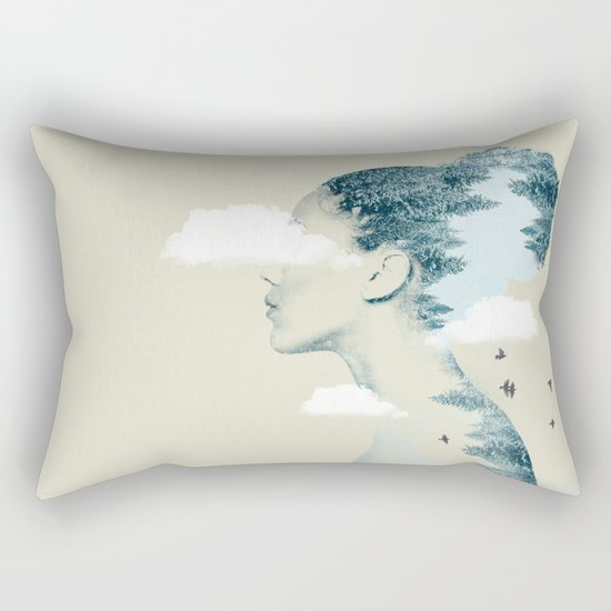 Thinking Green Rectangular Pillow