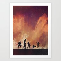 guardians of the galaxy Art Prints featuring Guardians of the Galaxy by Brandi Kenney