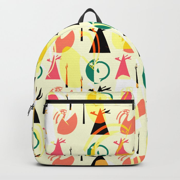 Abstract tree pattern Backpack