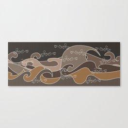 Waves V earth colors V Duffle Bags Canvas Print