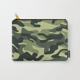 Green Military Camouflage Pattern Carry-All Pouch