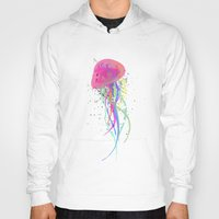 jelly fish Hoodies featuring Jelly Fish by Noel Mendoza