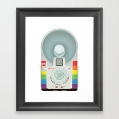 VINTAGE CAMERA RAINBOW Framed Art Print