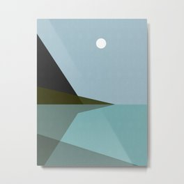 Abstract and geometric landscape 02 Metal Print