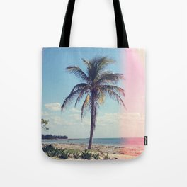 Palm Tree Light Leak Color Nature Photography Tote Bag