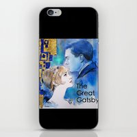 the great gatsby iPhone & iPod Skins featuring The Great Gatsby by Christine Chang
