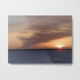 Mt. Redoubt Ashflow at Sunset #1 Metal Print