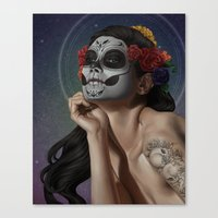 skulls Canvas Prints featuring Skulls by Joifish