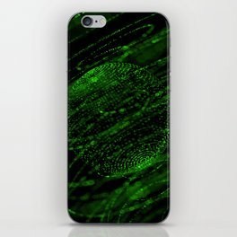 Sphere of particles iPhone Skin