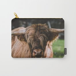 Portrait of Highland Cow Carry-All Pouch
