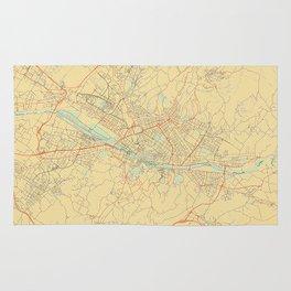 Florence Map Retro Rug