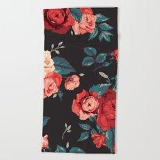 Vintage Flowers Beach Towel