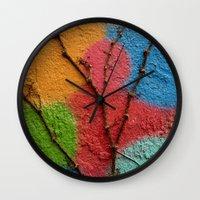 polka dots Wall Clocks featuring Polka Dots by Shy Photog