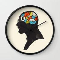 heisenberg Wall Clocks featuring Heisenberg by Wharton