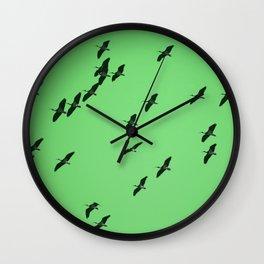 Ibis Sky Green Wall Clock