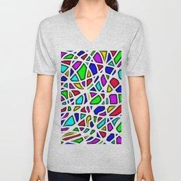 color face Unisex V-Neck