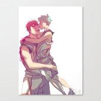 kuroko Canvas Prints featuring kagakuro kiss by jensuisdraws