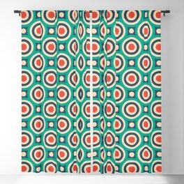 Mid Century Modern Circles Retro Bullseye Pattern Blackout Curtain
