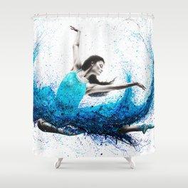Luna Marina Ballet Shower Curtain