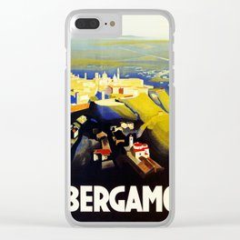 1920s Bergamo Italy travel Clear iPhone Case