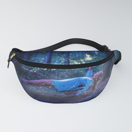 Woman Floating In Nature Fanny Pack