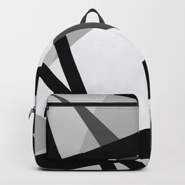 Abstract Grayscale Geometric Lines Backpack