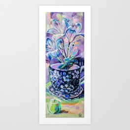 The flower with the miracle apple Art Print