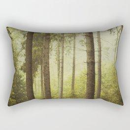 Fir Forest in Fog Rectangular Pillow