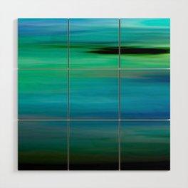 Seascape - blurography Wood Wall Art