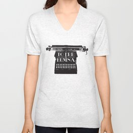 To Err Is Humna Unisex V-Neck