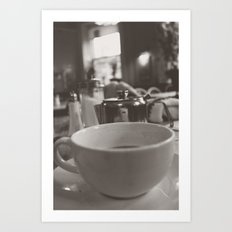 Tea at The Elephant House in Black & White Art Print