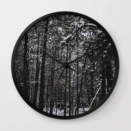 Snowy forest Wall Clock