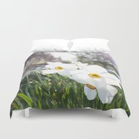 flora Duvet Covers featuring Flora by Kakel-photography