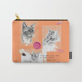 Cats and psychoanalysis Carry-All Pouch