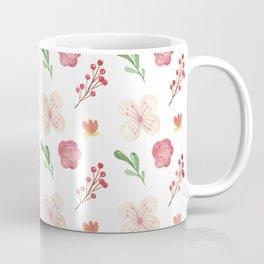 Modern Flower Pattern Design Coffee Mug