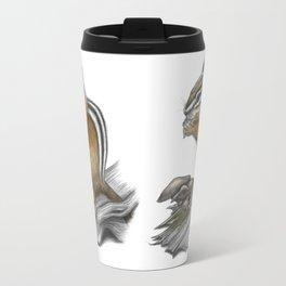 Chipmunk and mushrooms Travel Mug