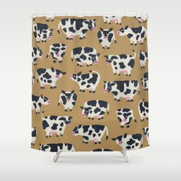 Cow Collection - Kraft Shower Curtain