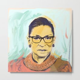 What Would RBG Do (2/6) Metal Print