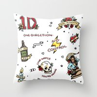 kendrawcandraw Throw Pillows featuring Tattoo You by kendrawcandraw