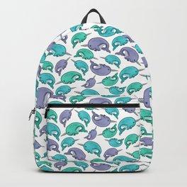 Narwhal Print, Blue, Green, Purple Narwhals Backpack
