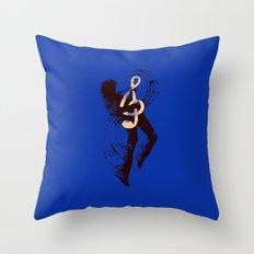 Solo (Blue) Throw Pillow