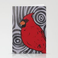 cardinal Stationery Cards featuring Cardinal by turddemon